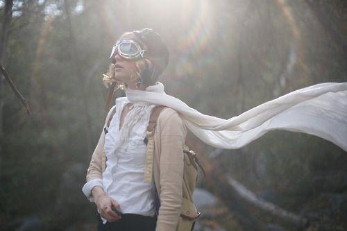 silk aviator scarf