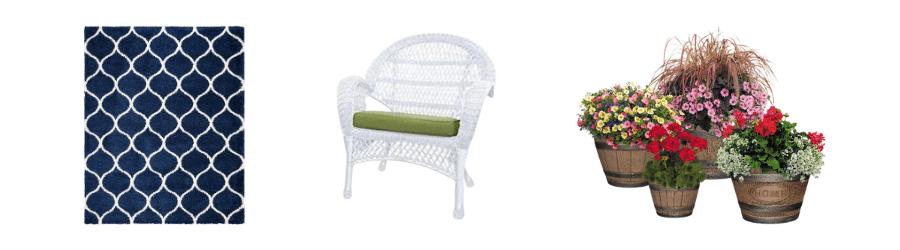stylish-rug-wicker-chair
