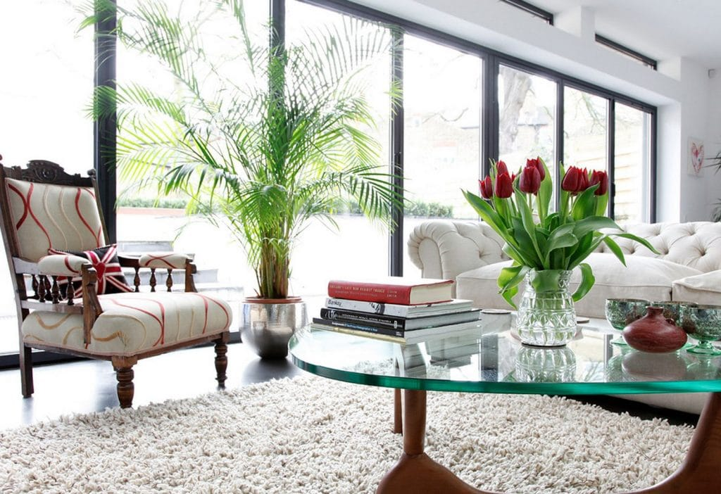 Floral Decoration in Living Room