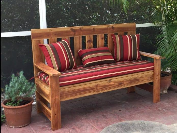 rustic-outdoor-bench