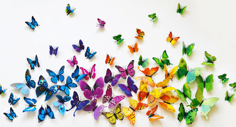 Butterfly Wall Art Ideas for a Living Room