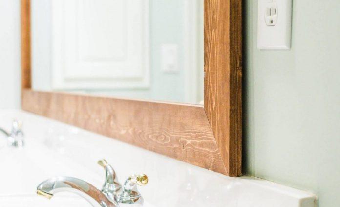 how-to-frame-bathrrom-mirror