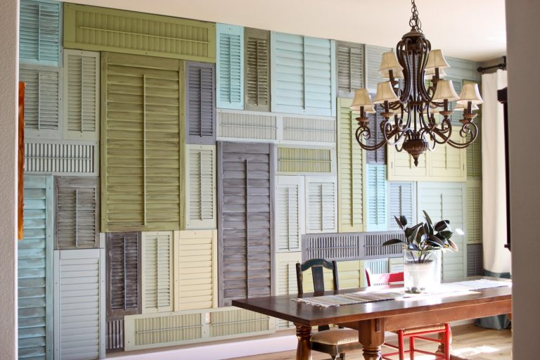 Creative Ways to Decorate Indoors with Wooden Shutters