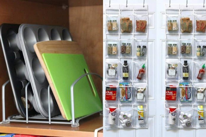 Hanging-Shoe-Organizer-in-the-Kitchen