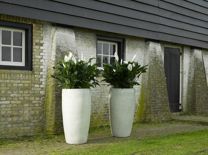 Large-Glazed-Pots-in-a-Landscape-Bed