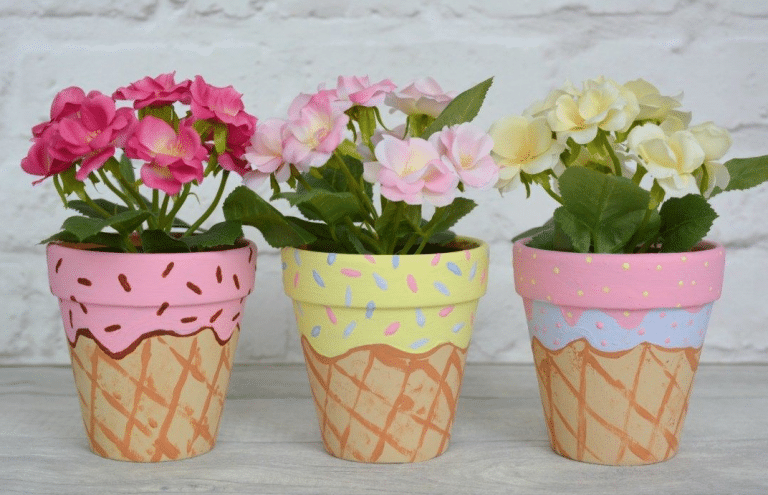 How to Paint Terra Cotta Planters for Outside Gardens