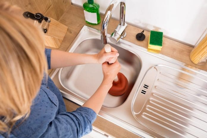 Unclog-a-Drain-with-Household-Items