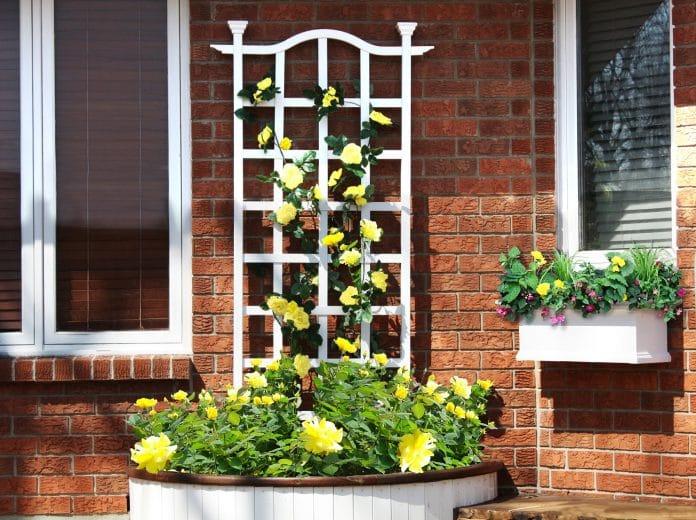 Vintage-Shutter-Garden-Trellis